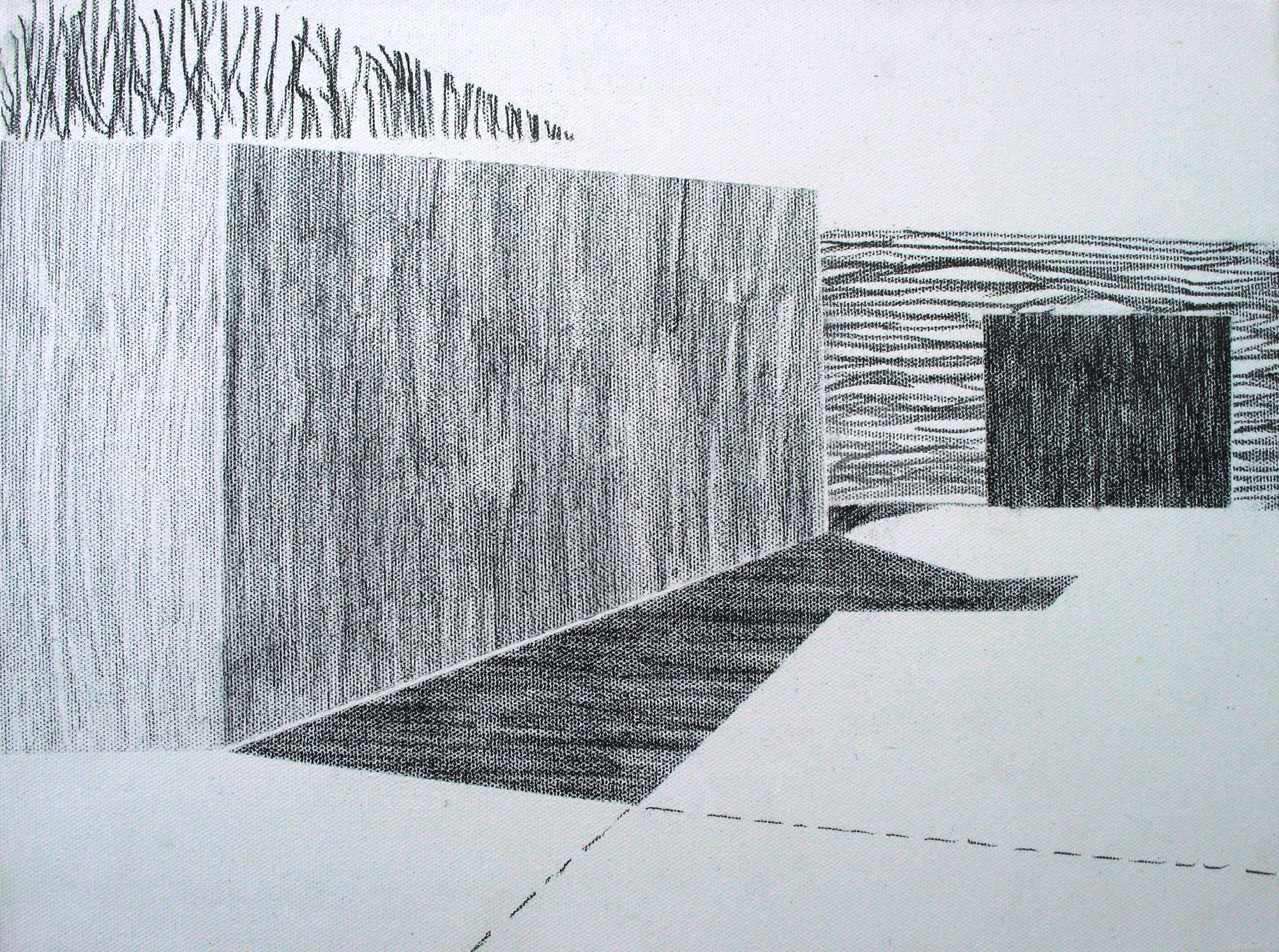 BUNKER I PENCIL ON CANVAS 2019