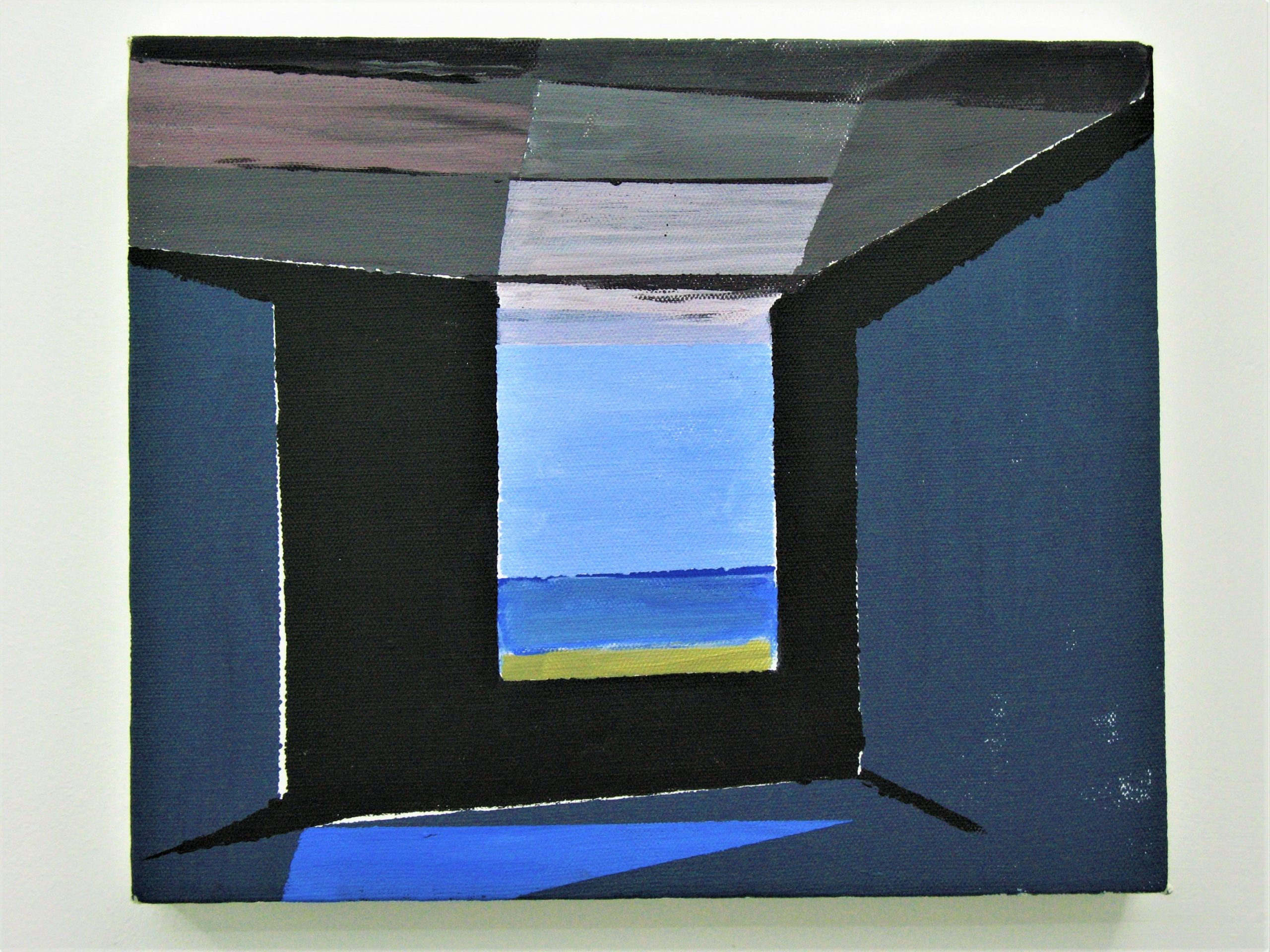 SEABUNKER INTERIOR WITH REFRACTED LIGHT II ACRYLIC ON CANVAS 2017
